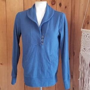Banana Republic Jersey Knit Peacock Blue Sweater S